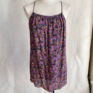 Parker Silk Sleeveless Floral Print Mini Dress